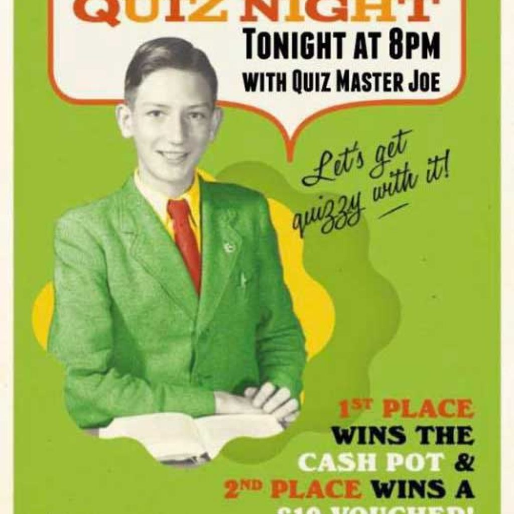 Albero Lounge Bedford Monday Quiz night